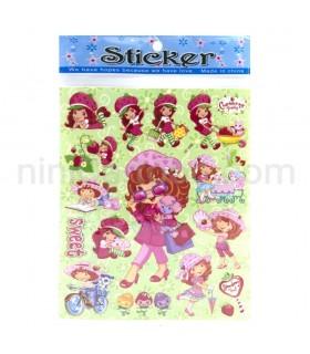 استیکر دختر توت فرنگی - Strawberry Shortcake Sticker