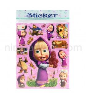 استیکر ماشا و میشا - ماشا و خرسه - Sticker Masha and The Bear