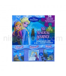 پکیج فعالیت فروزن - Disney Frozen My Magical Journey : Storybook and 2-in-1 Jigsaw Puzzle