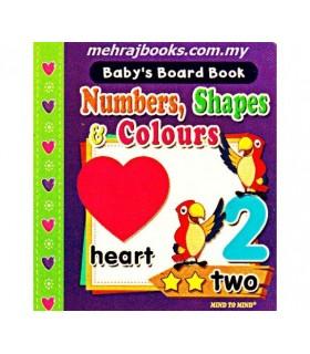 کتاب اورجینال انگلیسی - اعداد و شکلها و رنگها - Baby's Board book: Numbers, Shapes and Colours - کد 1040