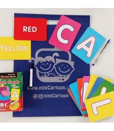 فلش کارت اورجینال انگلیسی حروف الفبا - Mini Flash Cards: abc upper case - کد 1034