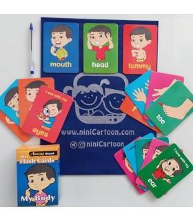 فلش کارت اورجینال انگلیسی - اعضای بدن - Mini Flash Cards: my body - کد 1035