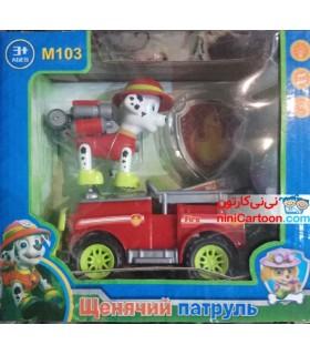 اسباب بازی سگ های نگهبان ماشین سوار مدل Paw Patrol - Marshall