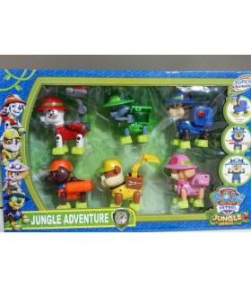اسباب بازی 6تايی سگ های نگهبان مدل Paw Patrol - Jungle Adventure