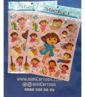 استیکر دورا مدل لباس آبی - Sticker Dora The Explorer
