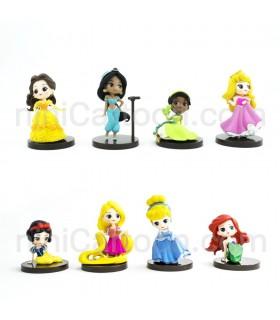 مجموعه 8 تایی فیگورهای پرنسس ها دیزنی - Disney Princess Figures
