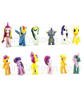 مجموعه 12 عددی فیگورهای پونی - مدل تک شاخ - Pony