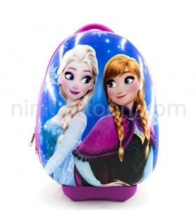کیف چمدانی چرخ دار آنا و السا - فروزن (بیضی) - Anna and Elsa - Frozen