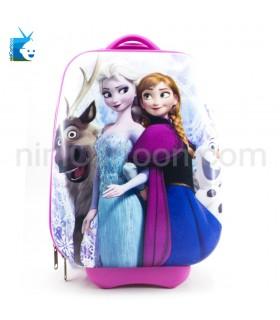 کیف چمدانی چرخ دار آنا و السا و اولاف - فروزن (مستطیل) - Anna and Elsa and Olaf - Frozen