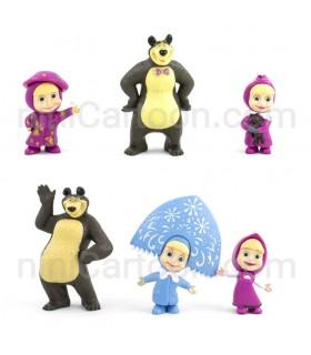 مجموعه 6 عددی فیگورهای ماشا و خرس - Masha and The Bear