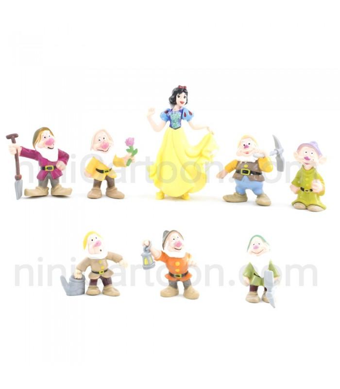 مجموعه 8 عددی فیگورهای سفید برفی و هفت کوتوله - Snow White